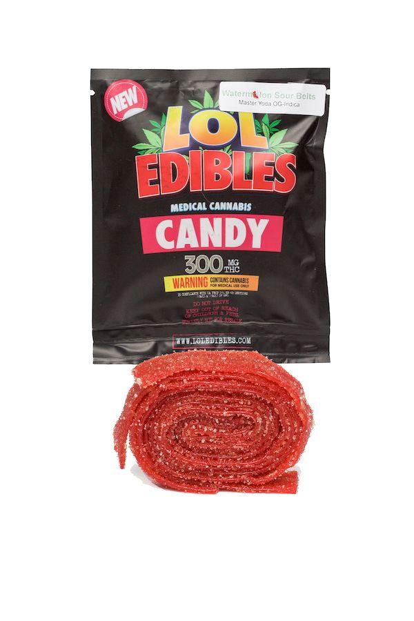 Sour Watermelon Belts (300 mg.) LOL Edibles
