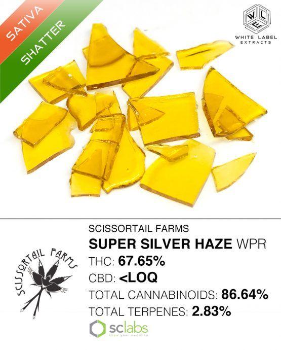 WLE- Super Silver Haze, Hybrid, Shatter, Sativa