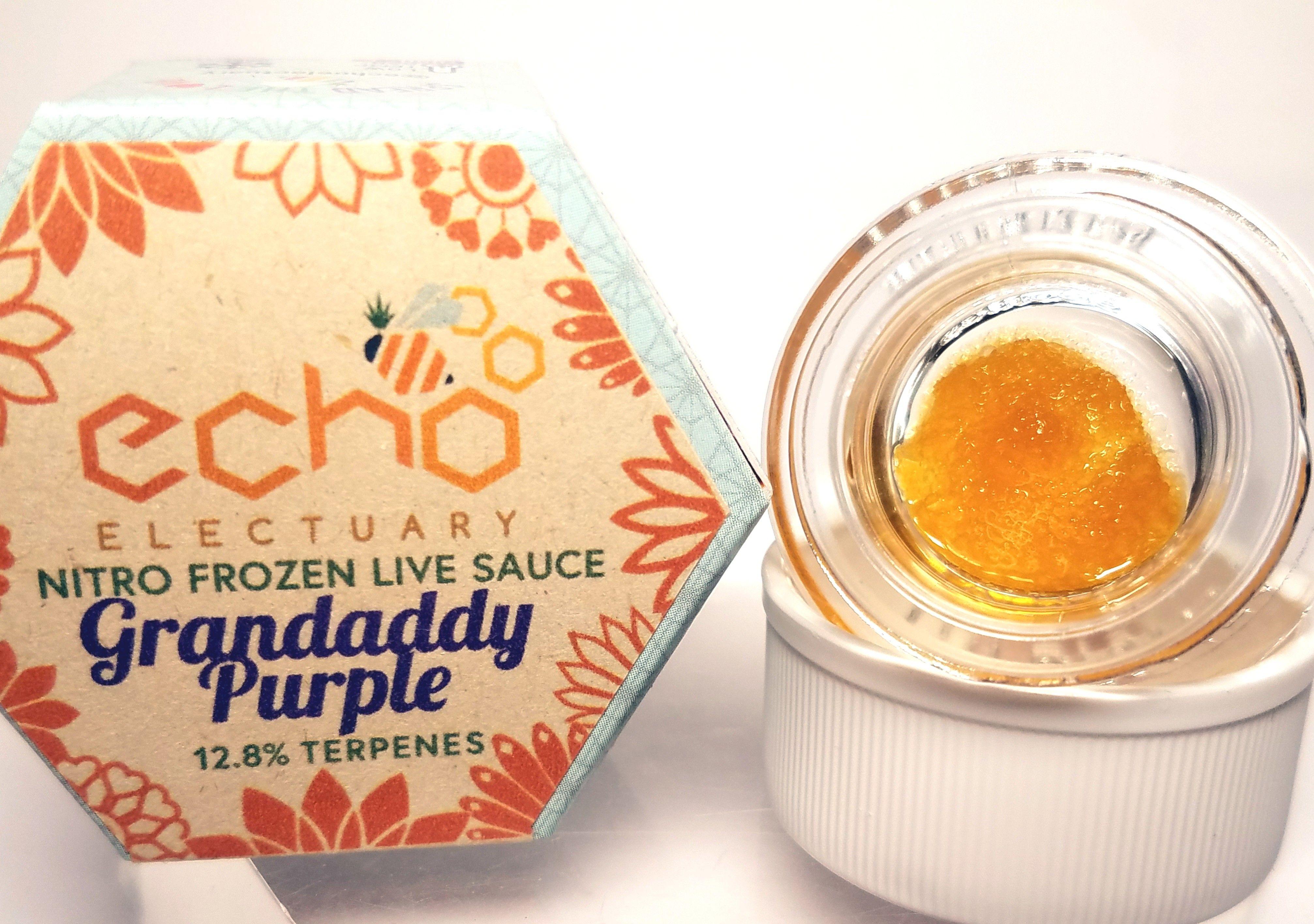 Echo Electuary - Granddaddy Purple, Indica Hybrid, Nitro Frozen Live Resin