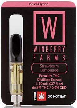 Winberry Farms - Strawberry Lemonade, Hybrid, Distillate Cart