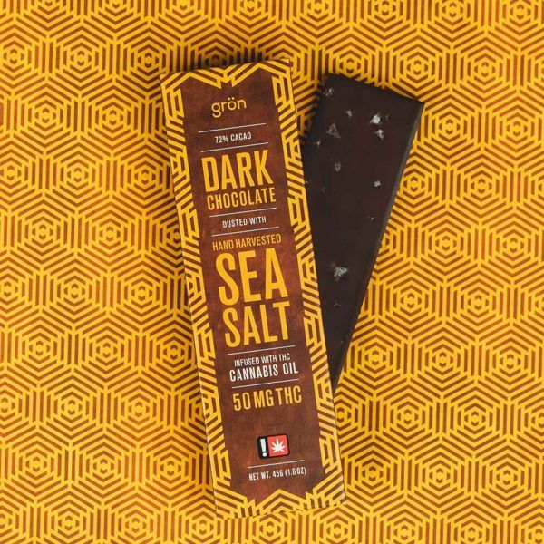 Grön - Sea Salt Dark Chocolate Bar with THC