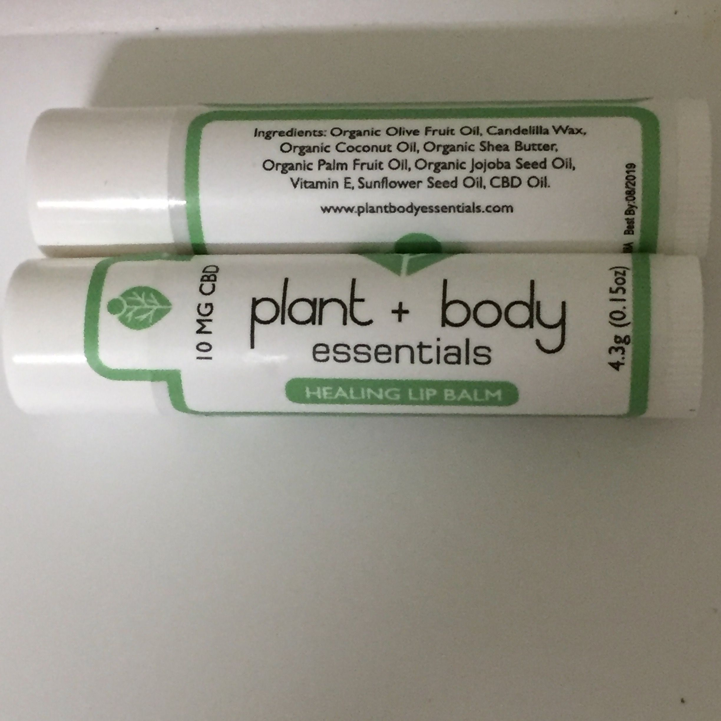 Plant + Body Essentials - Lip Balm 10mg CBD