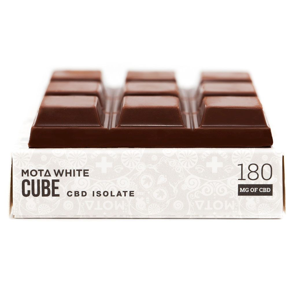MOTA White CBD Cube 90g Milk Chocolate