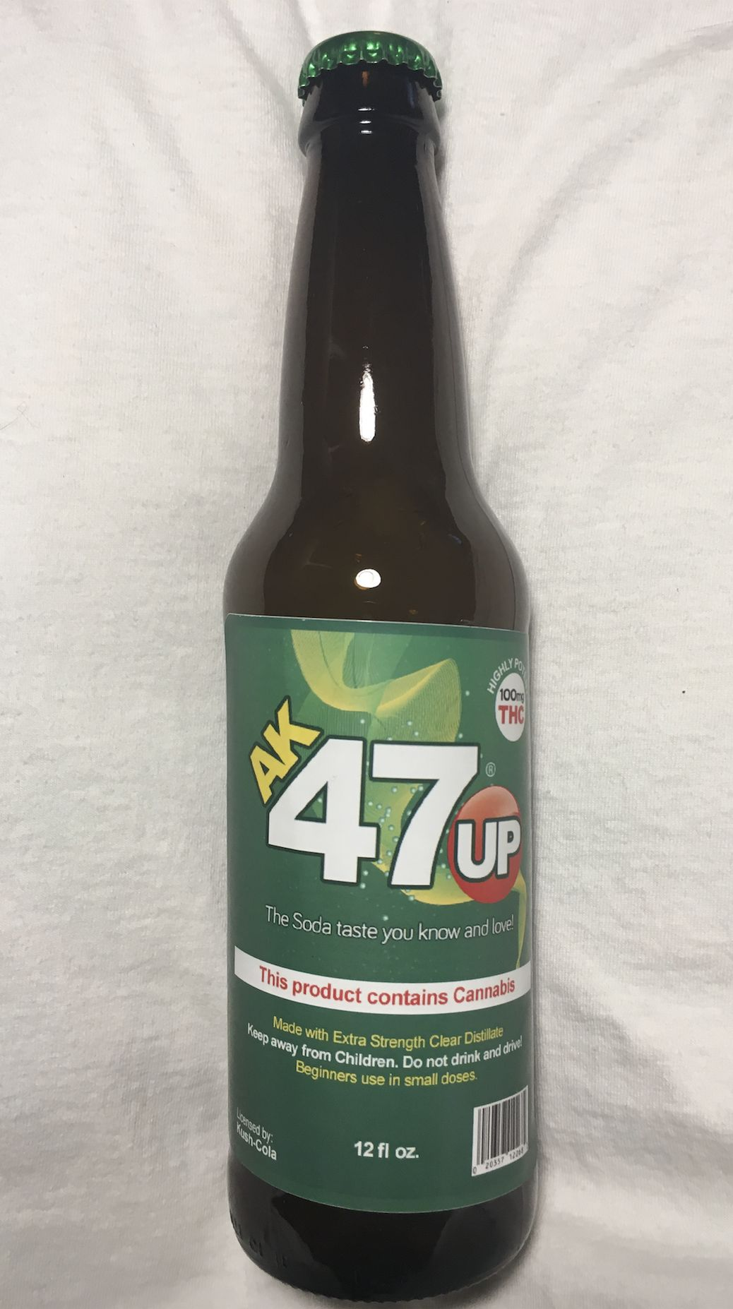 AK47Up 100mg Cannabis Distillate Lemon Lime Soda