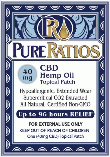 Pure Ratio CBD Patch Hemp Based