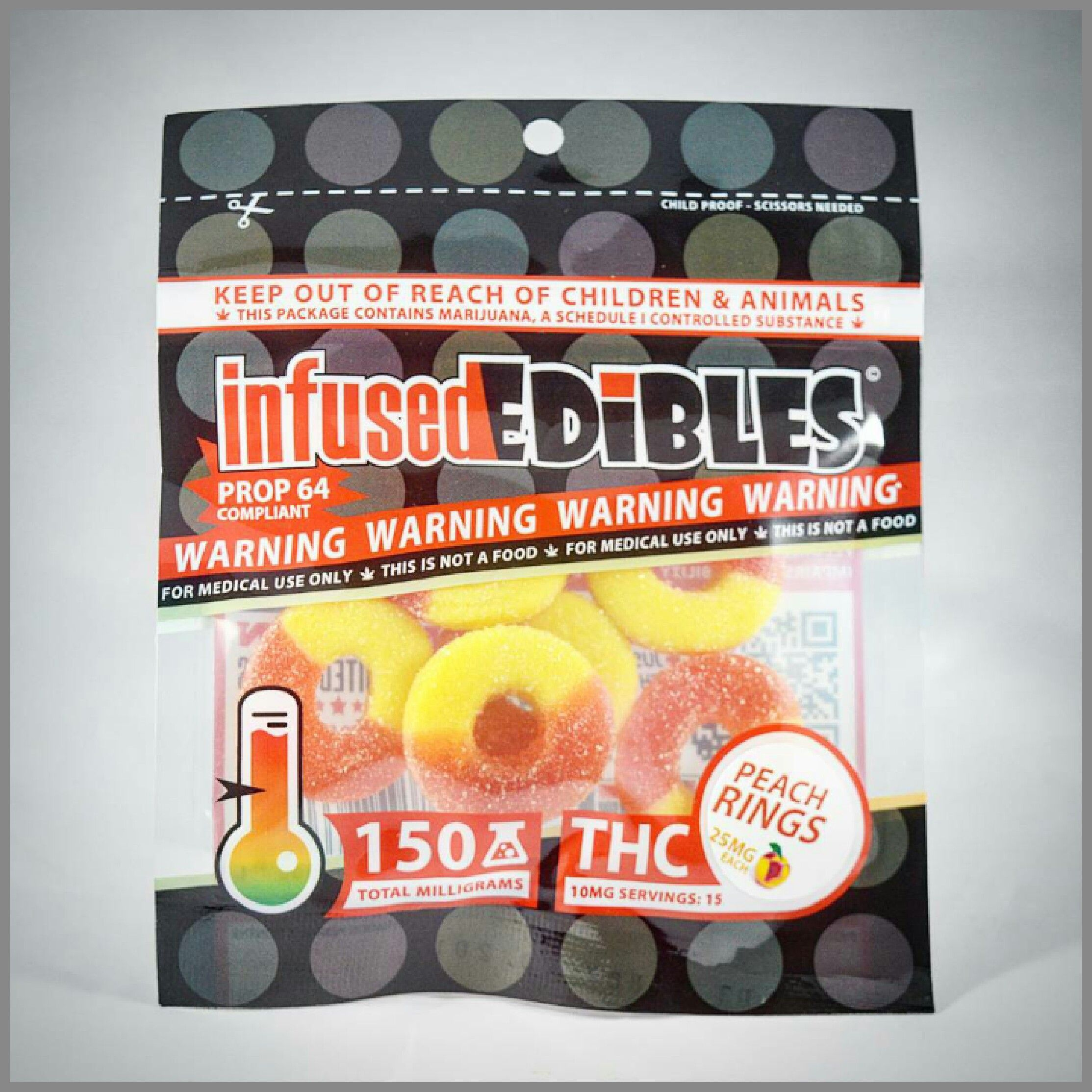 Peach Rings - Infused Edibles - 150mg