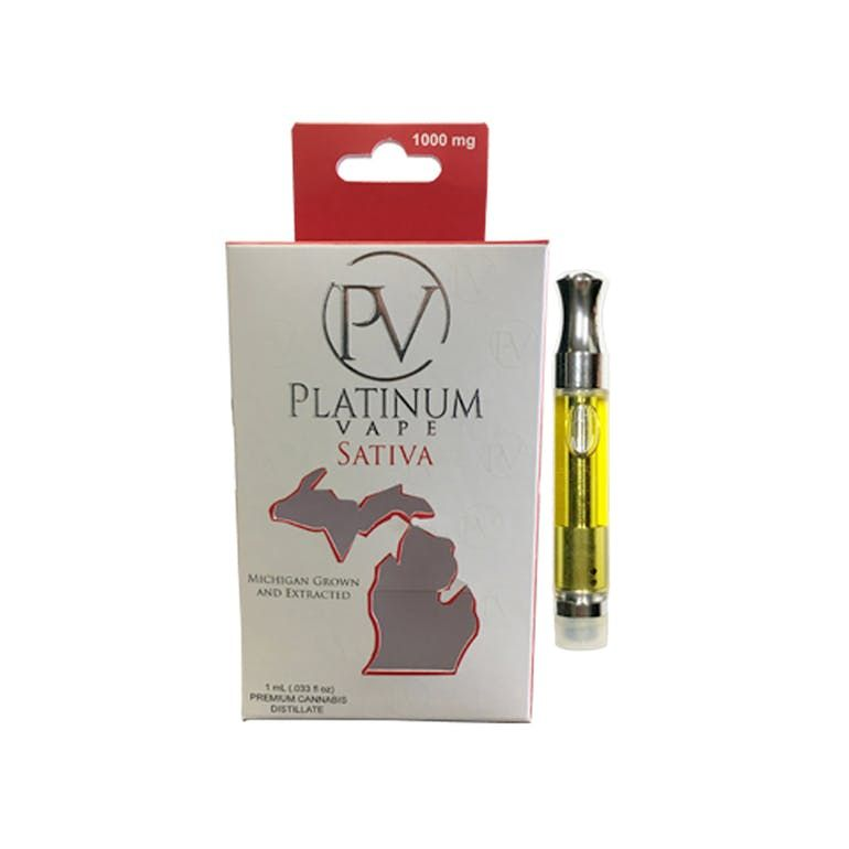 Platinum Vape 1 Gram Cartridge - Super  Haze (sativa)