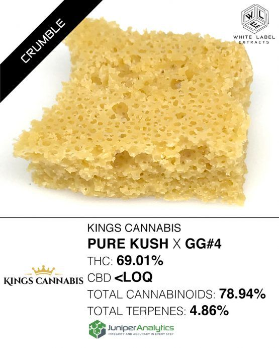 WLE - Pure Kush x GG#4 Honeycomb, Was $37