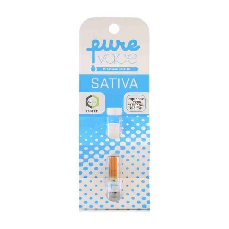 Pure One Super Blue Dream Co2 Cartridge .5G- Sativa