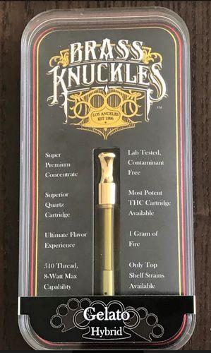 Brass Knuckles Gelato Cart. 1gram