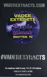 Vader Extracts- PurpleSkunk Shatter 1g