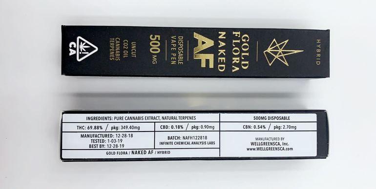 Gold Flora - Naked AF (Hybrid) - 500mg Disposable Pen