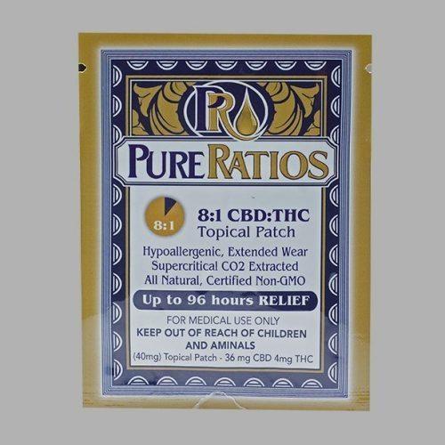 8:1 CBD-THC Cannabis Based Patch