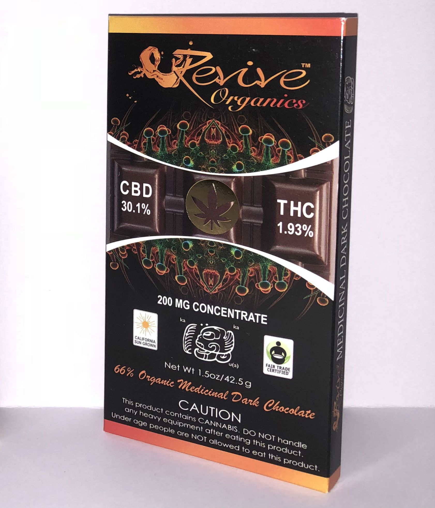 Revive Organics 200mg Chocolate Bar - CBD