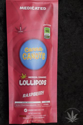 CannaCandys Lollipop - Strawberry