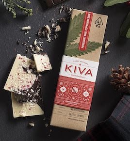 Kiva Holiday Bar - Peppermint Bark 100mg