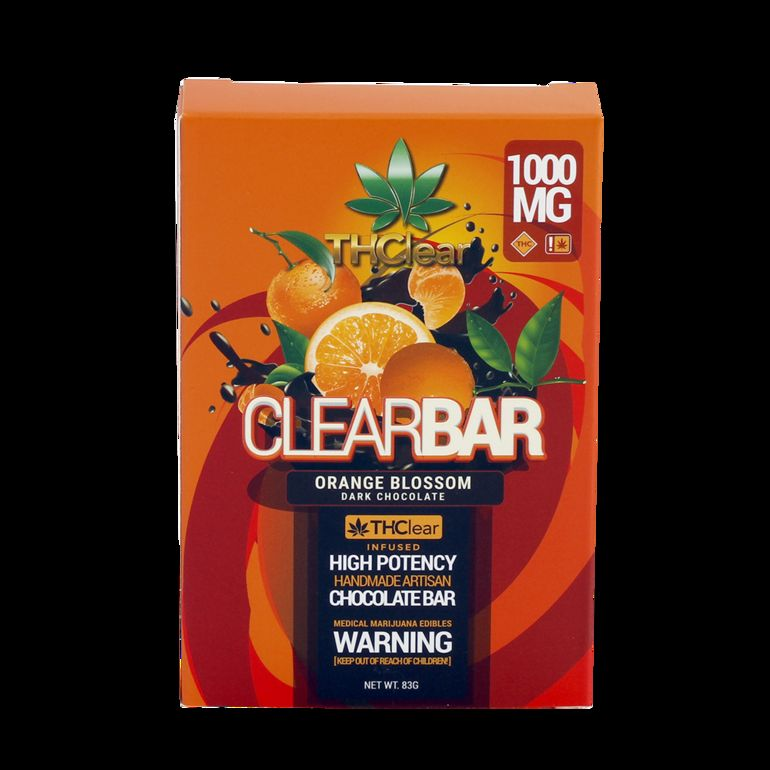 THClear Chocolate Bar 1000mg - Orange Blossom