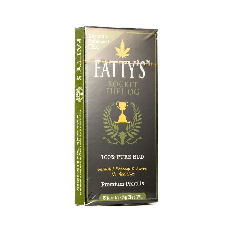 Fatty's THC Enhanced Pre-roll 3-pack - Rocket Fuel OG