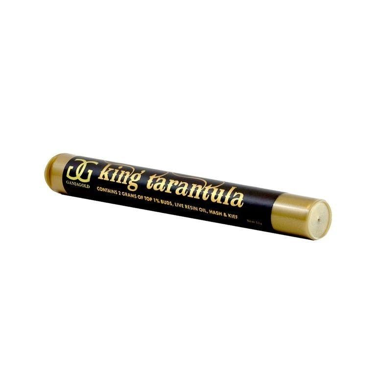 *King* Tarantula by GanjaGold - (Hybrid) Fire OG *Indoor* Infused 2gram Preroll
