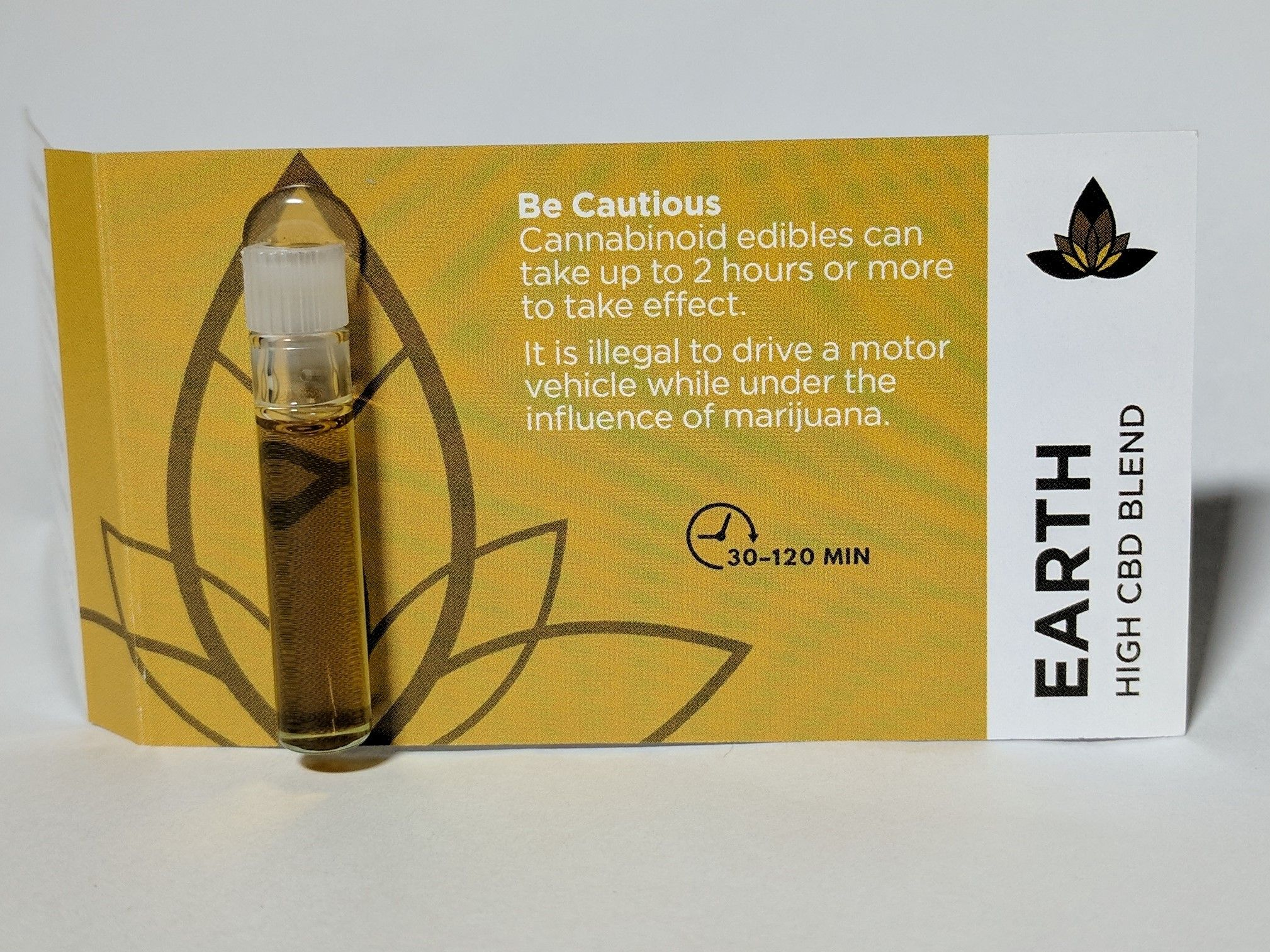 Luminous Botanicals- Earth High CBD Blend, .8ml Sample Size