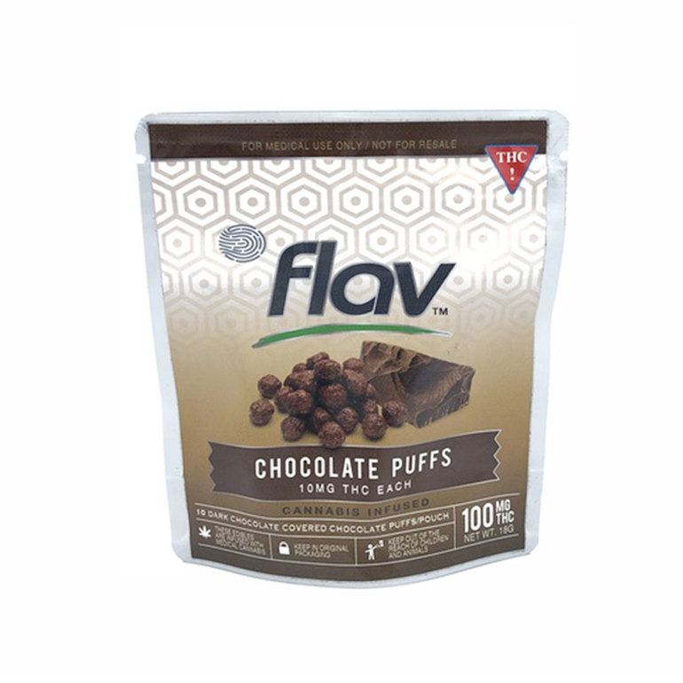 100mg FlavRX Chocolate Puff Snack Pouch