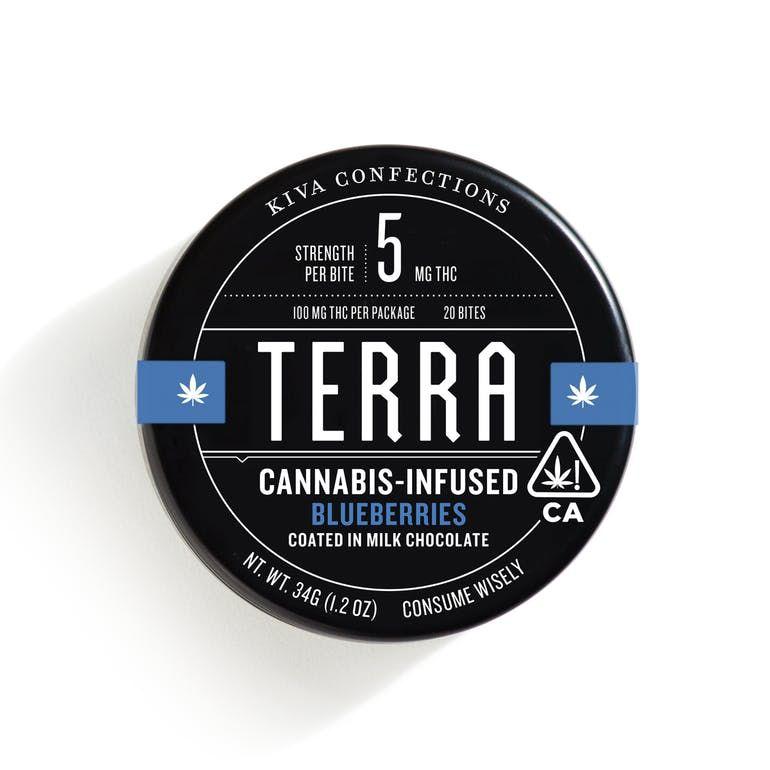 Terra Bites - Milk Chocolate Blueberries 100mg