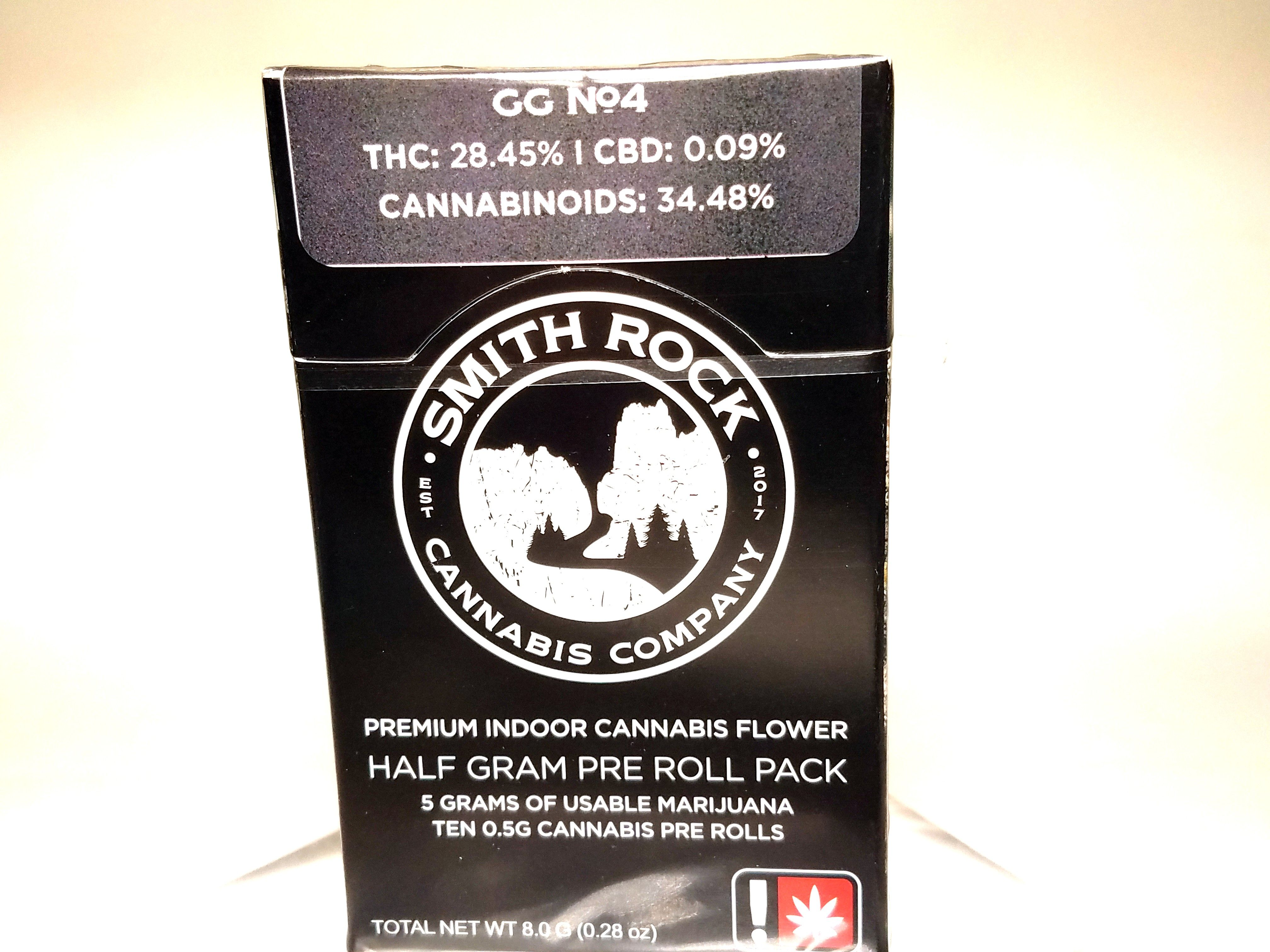 Smith Rock Cannabis Company - GG #4, Hybrid, 10 pack