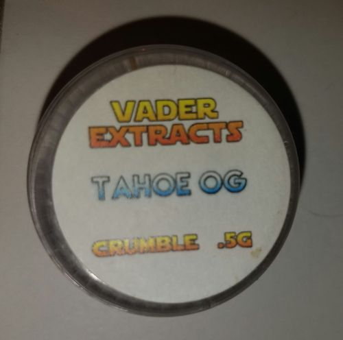 Vader extracts- crumble Tahoe OG .5g