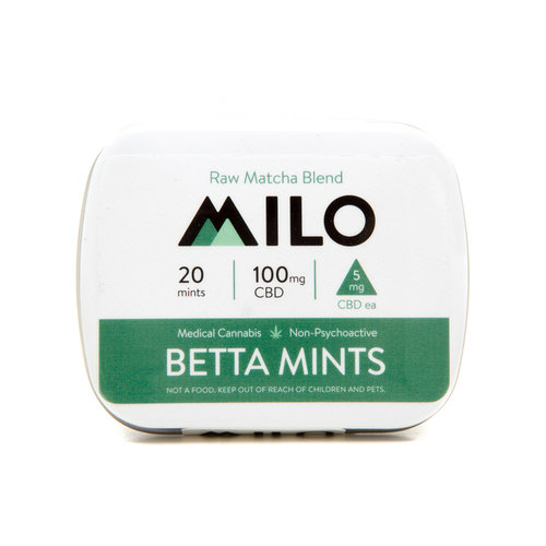 100mg Milo Betta CBD Mints Raw Matcha Blend