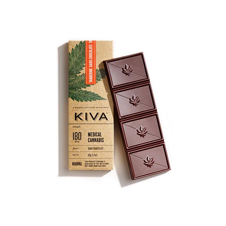 Kiva - Tangerine Dark Chocolate Bar - 180mg