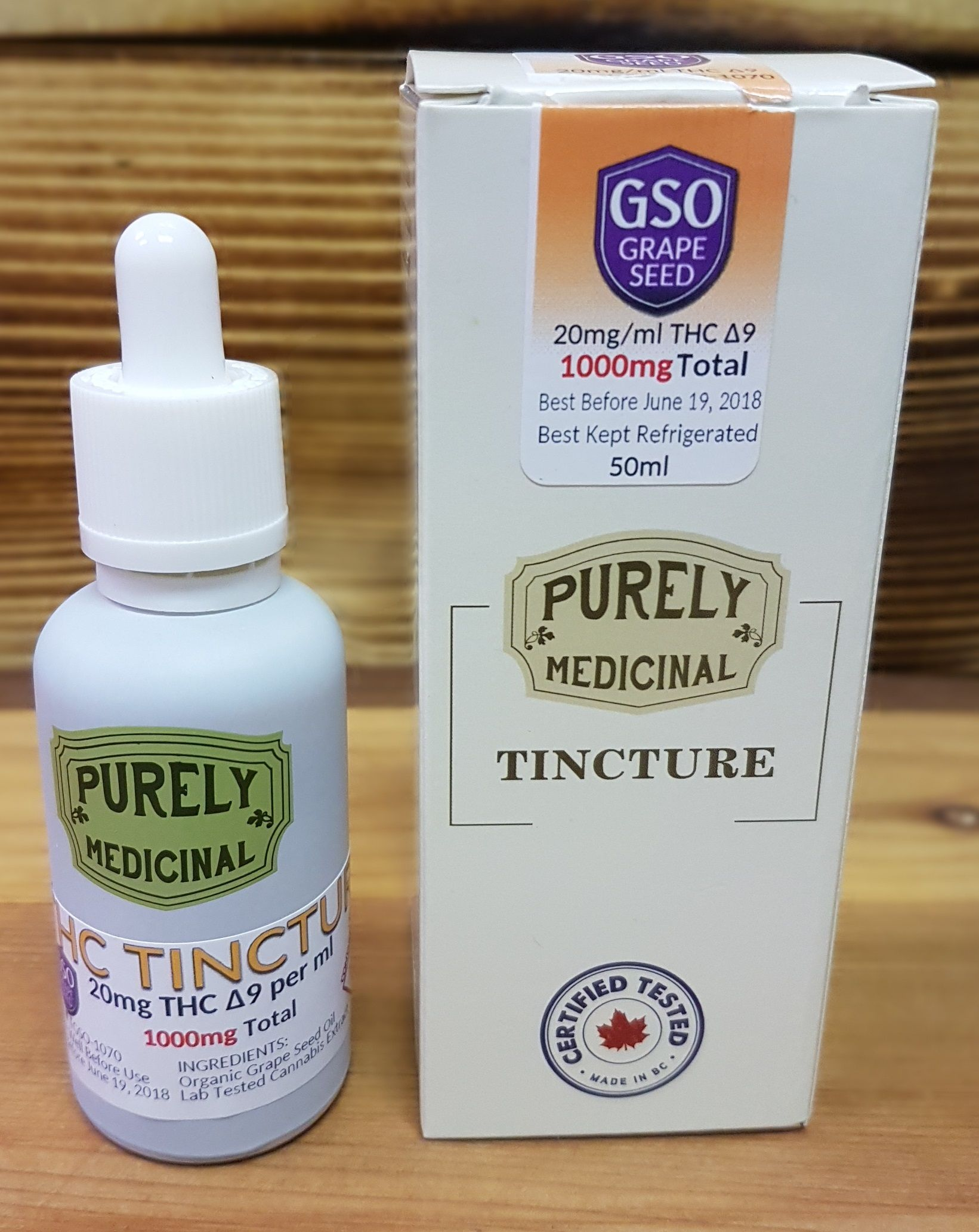 Purely Medicinal THC Tincture GSO 50ml