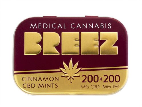 Breeze Mints: Cinnamon CBD Mints 200mg CBD + 200mg THC