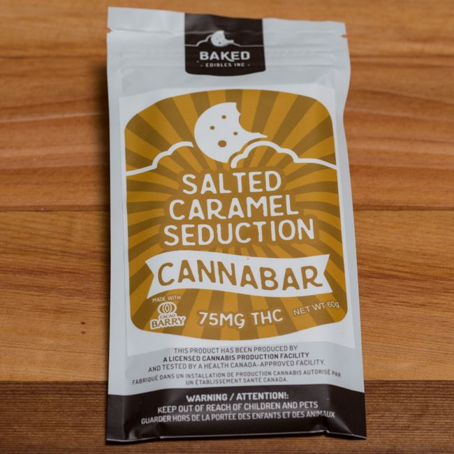 Baked Edibles Salted Caramel Seduction Cannabar