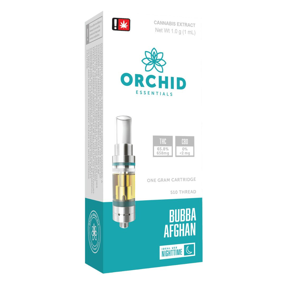 Orchid, Bubba Afghan, Indica, Cartridge