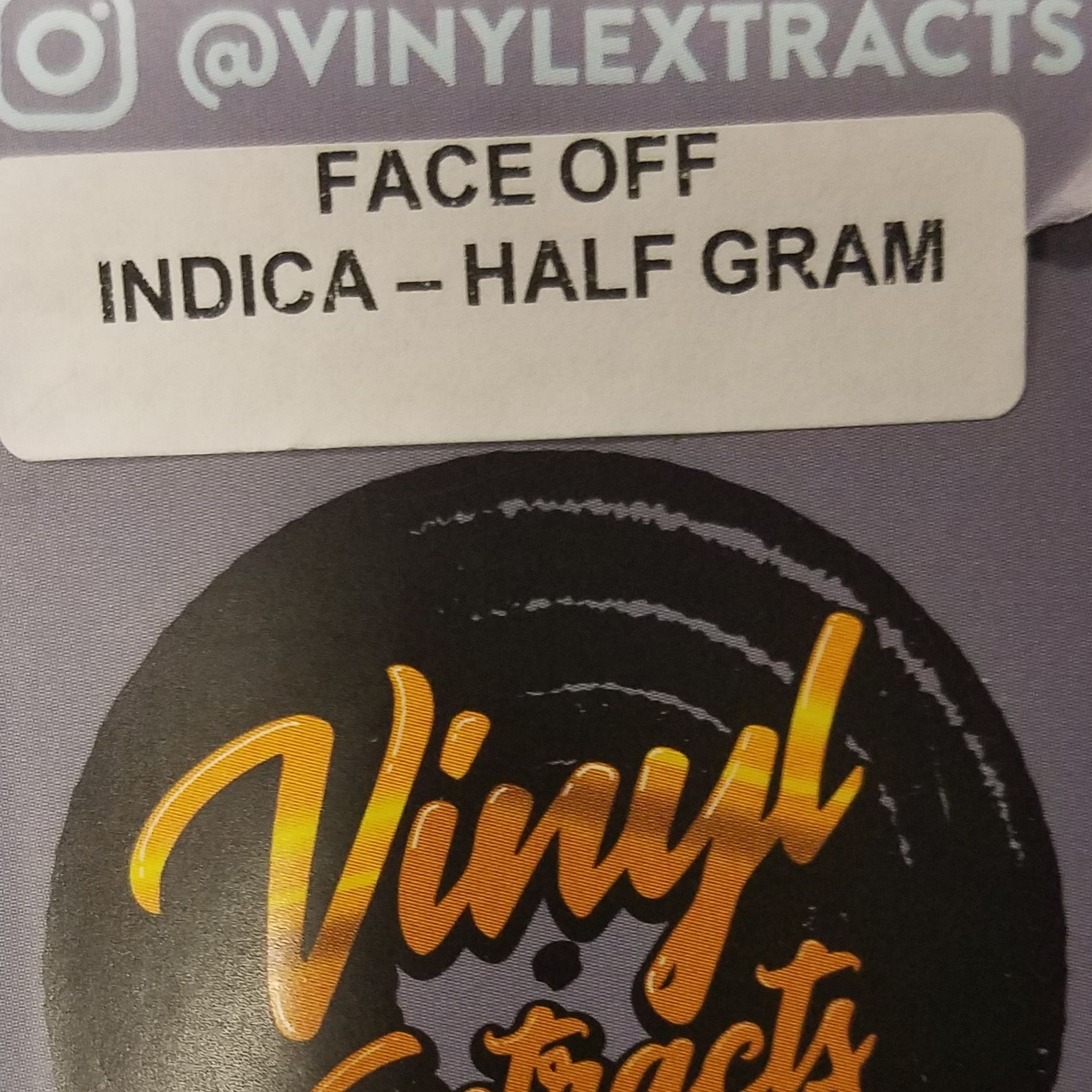 Vinyl Extracts-Face Off OG .5g Shatter (I)