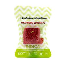 Infused Creations Strawberry Belts-300mg (Indica)
