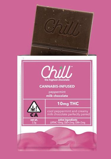 Chill Peppermint Milk Chocolate Single Serving, 10mg THC