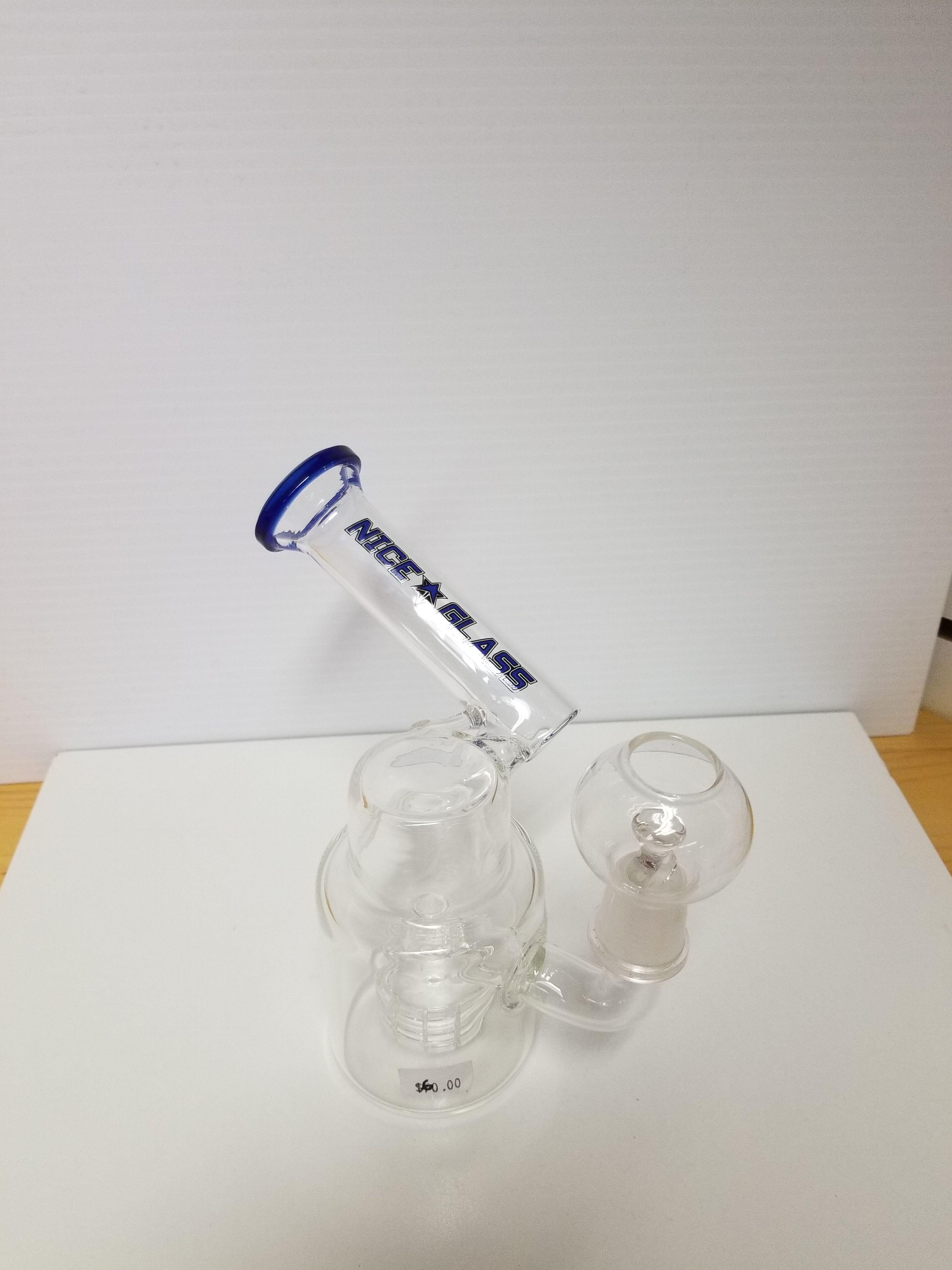 Nice Glass Side Chamber Dabber Bong