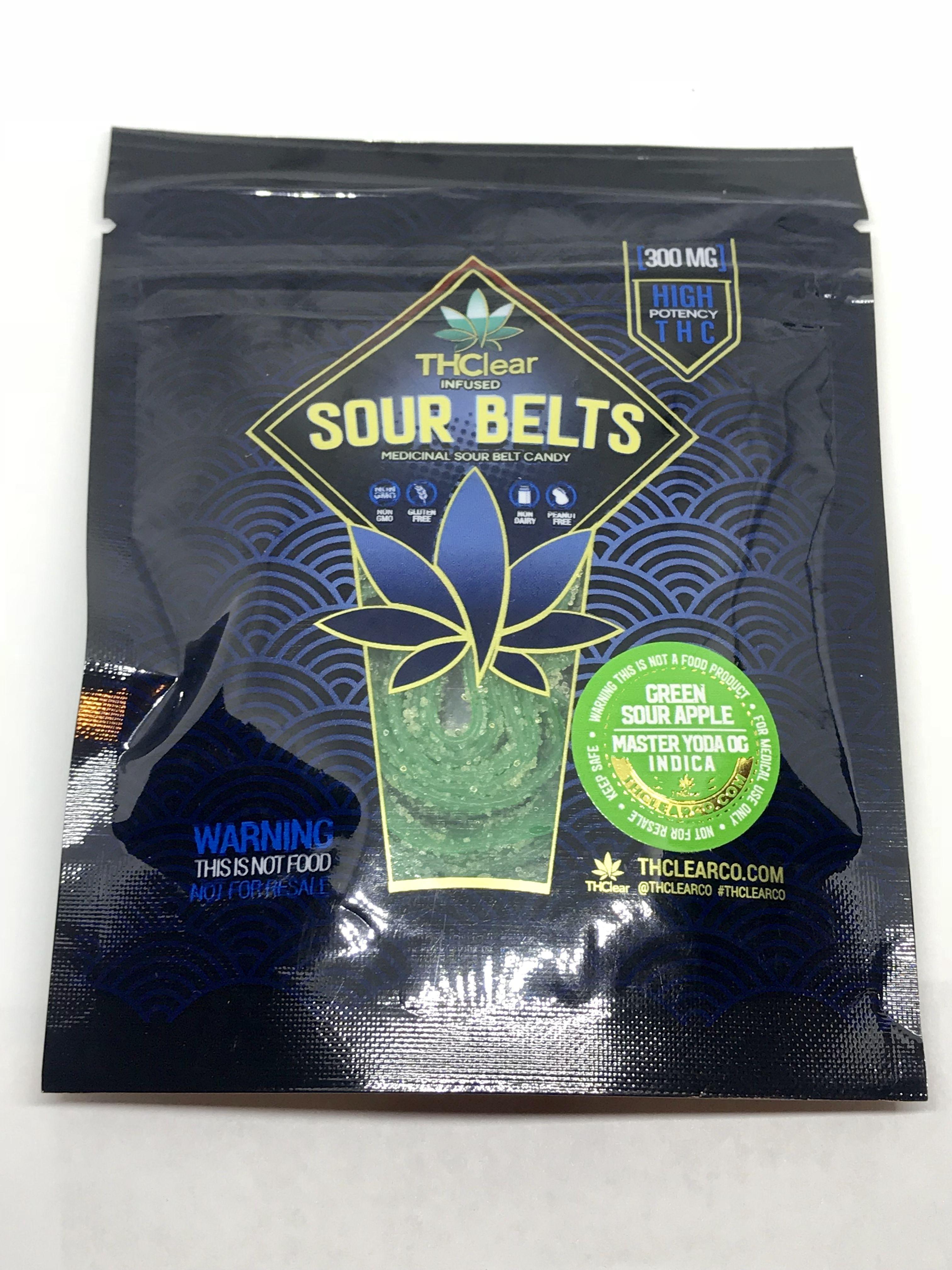 THClear Green Sour Apple Belts