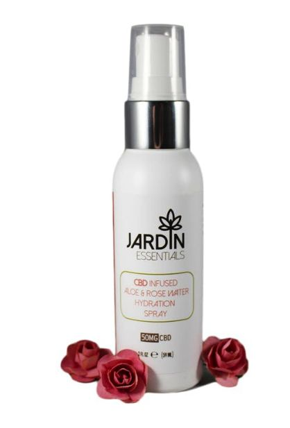Aloe & Rose Spray 50MG CBD- Jardin Essentials