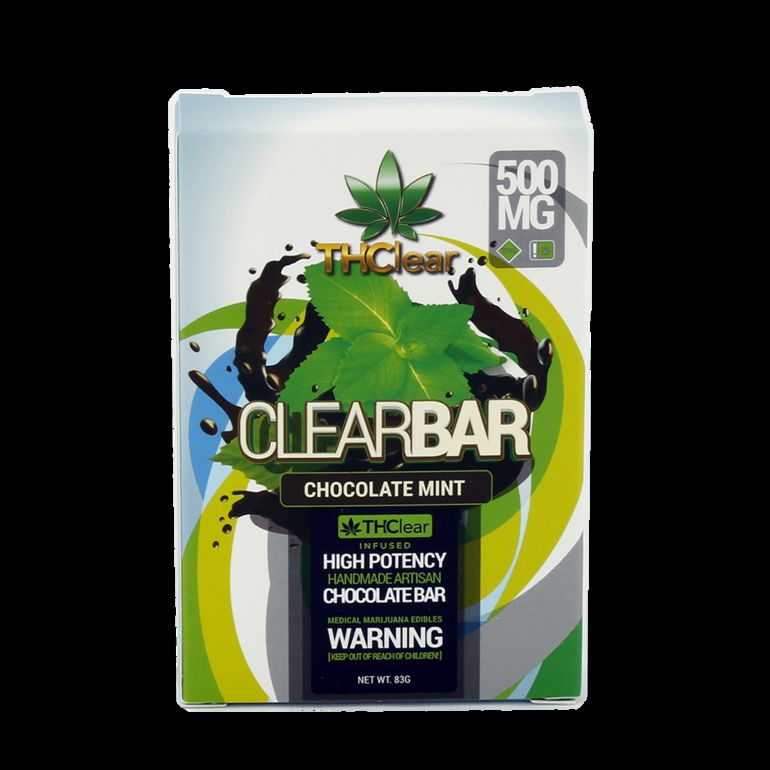 THClear Chocolate Bar 500mg - Mint Dark Chocolate