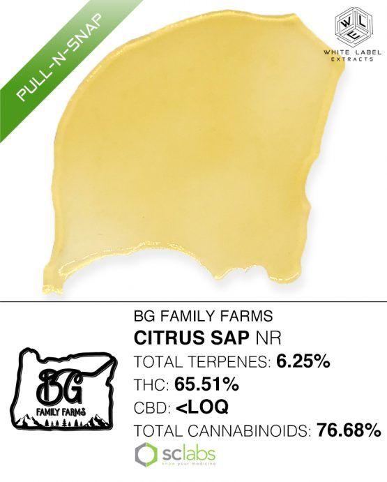 WLE - Citrus Sap  NR, Sativa Hybrid, Pull n Snap