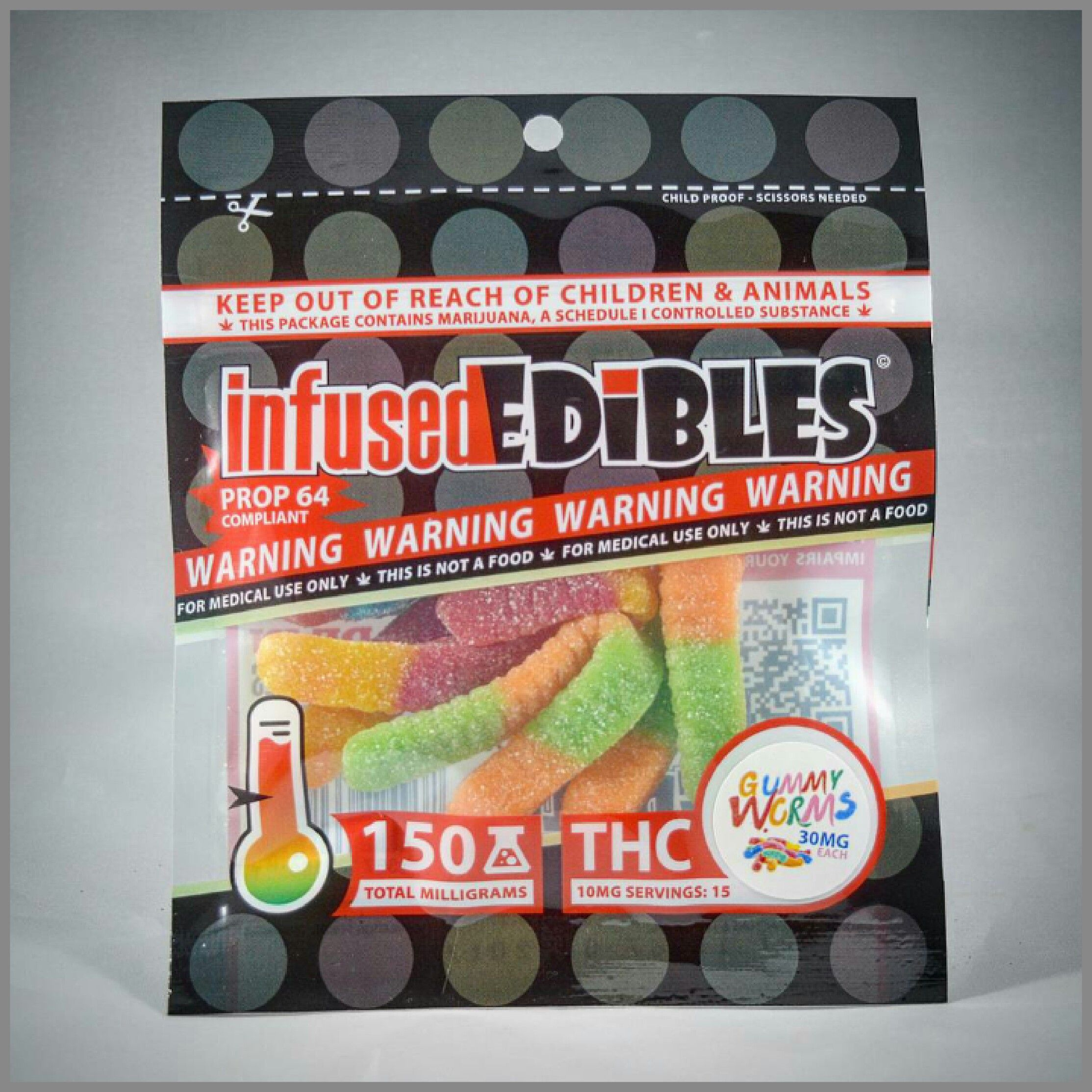 Gummy Worms CBD - Infused Edibles - 150mg