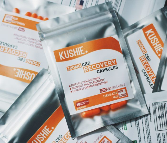 Kushie 200 MG CBD Recovery Capsules