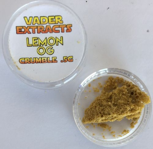 Vader Extracts- Crumble Lemon OG  .5g
