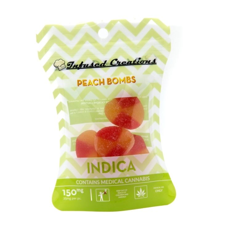 Infused Creations Peach Bombs- 150mg (indica)