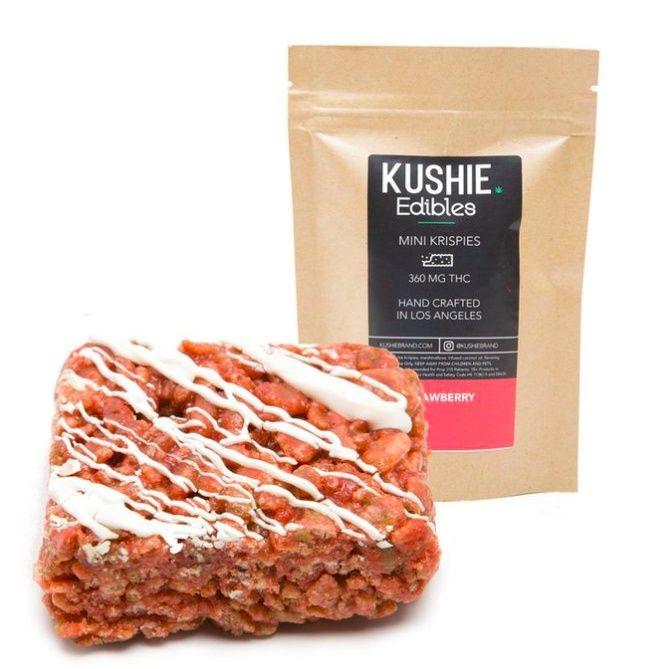 320MG Kushie Brand Strawberry Mini Krispie