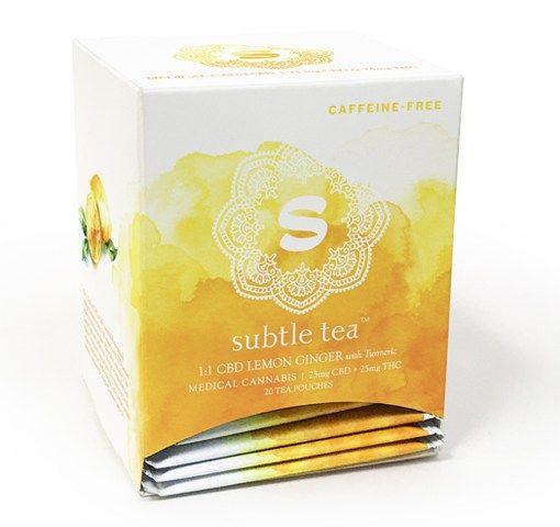 Subtle Tea 1:1 CBD Lemon Ginger with Turmeric 25mg