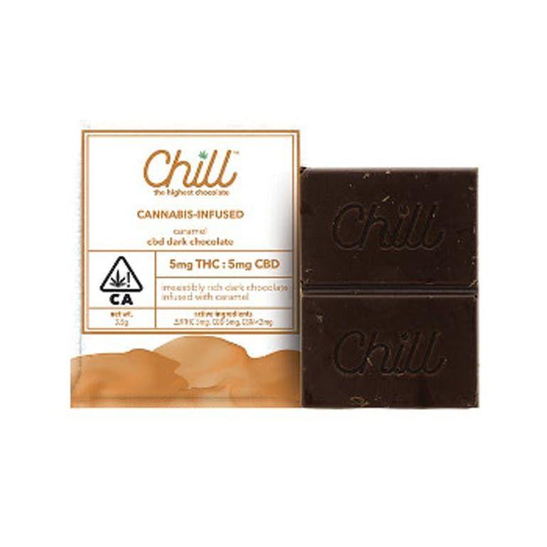 Chill Caramel Chocolate Single Serving, 5mg CBD : 5mg THC