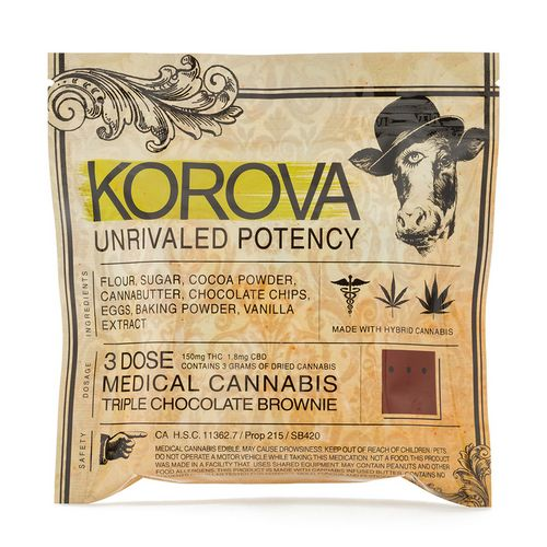 Korova Triple Chocolate Brownie, 150mg